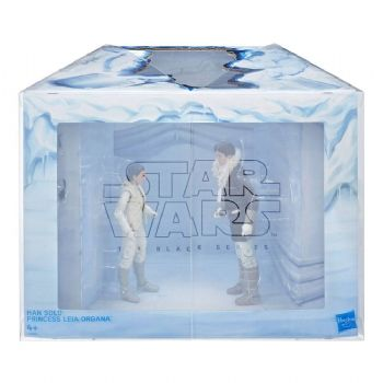 "Star Wars The Black Series SDCC 2018 Exclusive Han and Leia Hoth 6"" Figure Diorama"